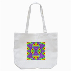 Trippy Rainbow Triangles Tote Bag (white)