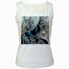Feeling Blue Women s Tank Top (white) by FunWithFibro