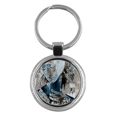 Feeling Blue Key Chain (round) by FunWithFibro