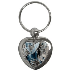 Feeling Blue Key Chain (heart)