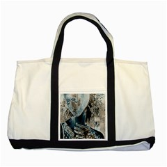 Feeling Blue Two Toned Tote Bag