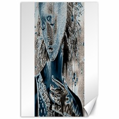 Feeling Blue Canvas 24  X 36  (unframed) by FunWithFibro