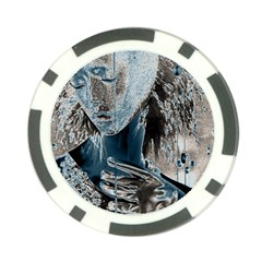 Feeling Blue Poker Chip by FunWithFibro