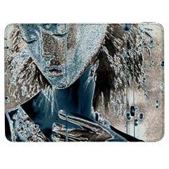 Feeling Blue Samsung Galaxy Tab 7  P1000 Flip Case by FunWithFibro
