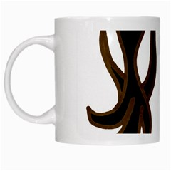 Dancing Fire White Coffee Mug by coolcow