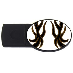 Dancing Fire 4gb Usb Flash Drive (oval) by coolcow