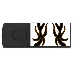 Dancing Fire 4gb Usb Flash Drive (rectangle) by coolcow