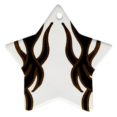 Dancing Fire Star Ornament (two Sides) by coolcow