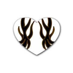 Dancing Fire Drink Coasters (heart) by coolcow