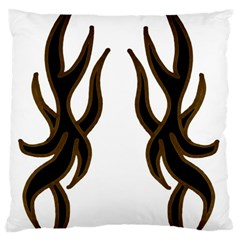 Dancing Fire Large Cushion Case (two Sided)  by coolcow