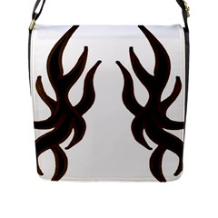Dancing Fire Flap Closure Messenger Bag (large) by coolcow