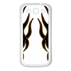 Dancing Fire Samsung Galaxy S3 Back Case (white) by coolcow