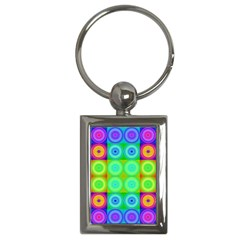 Rainbow Circles Key Chain (rectangle) by SaraThePixelPixie