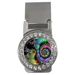 Satin Rainbow, Spiral Curves Through The Cosmos Money Clip (cz) by DianeClancy