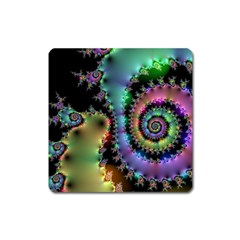 Satin Rainbow, Spiral Curves Through The Cosmos Magnet (square) by DianeClancy