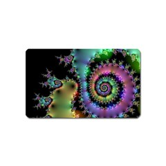 Satin Rainbow, Spiral Curves Through The Cosmos Magnet (name Card) by DianeClancy