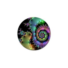 Satin Rainbow, Spiral Curves Through The Cosmos Golf Ball Marker 10 Pack by DianeClancy