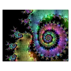 Satin Rainbow, Spiral Curves Through The Cosmos Jigsaw Puzzle (rectangle) by DianeClancy