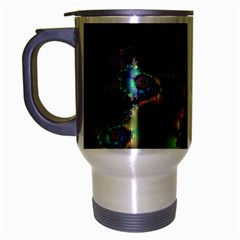 Satin Rainbow, Spiral Curves Through The Cosmos Travel Mug (silver Gray) by DianeClancy