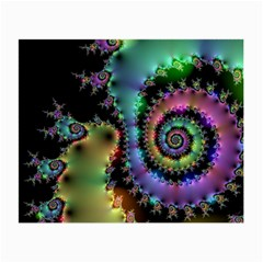 Satin Rainbow, Spiral Curves Through The Cosmos Glasses Cloth (small) by DianeClancy