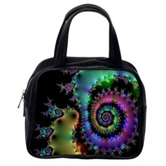 Satin Rainbow, Spiral Curves Through The Cosmos Classic Handbag (one Side) by DianeClancy