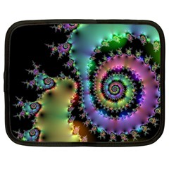 Satin Rainbow, Spiral Curves Through The Cosmos Netbook Sleeve (xxl) by DianeClancy