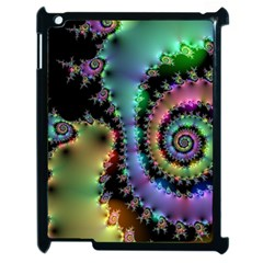 Satin Rainbow, Spiral Curves Through The Cosmos Apple Ipad 2 Case (black) by DianeClancy