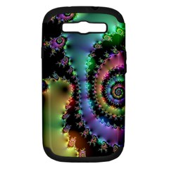 Satin Rainbow, Spiral Curves Through The Cosmos Samsung Galaxy S Iii Hardshell Case (pc+silicone) by DianeClancy