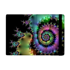 Satin Rainbow, Spiral Curves Through The Cosmos Apple Ipad Mini Flip Case by DianeClancy