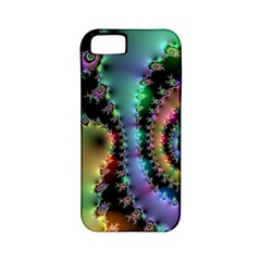 Satin Rainbow, Spiral Curves Through The Cosmos Apple Iphone 5 Classic Hardshell Case (pc+silicone) by DianeClancy