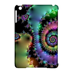 Satin Rainbow, Spiral Curves Through The Cosmos Apple Ipad Mini Hardshell Case (compatible With Smart Cover) by DianeClancy