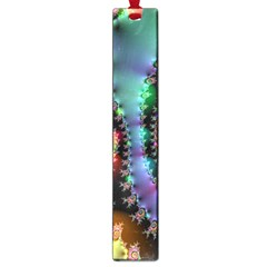 Satin Rainbow, Spiral Curves Through The Cosmos Large Bookmark by DianeClancy