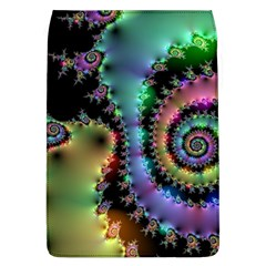 Satin Rainbow, Spiral Curves Through The Cosmos Removable Flap Cover (large) by DianeClancy
