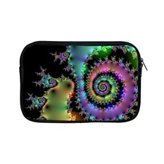 Satin Rainbow, Spiral Curves Through The Cosmos Apple Ipad Mini Zippered Sleeve by DianeClancy