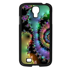 Satin Rainbow, Spiral Curves Through The Cosmos Samsung Galaxy S4 I9500/ I9505 Case (black) by DianeClancy