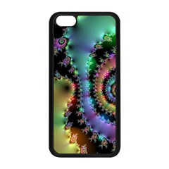 Satin Rainbow, Spiral Curves Through The Cosmos Apple Iphone 5c Seamless Case (black) by DianeClancy