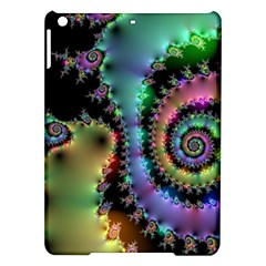 Satin Rainbow, Spiral Curves Through The Cosmos Apple Ipad Air Hardshell Case by DianeClancy