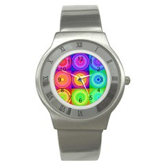 Retro Circles Stainless Steel Watch (slim)