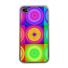 Retro Circles Apple Iphone 4 Case (clear) by SaraThePixelPixie