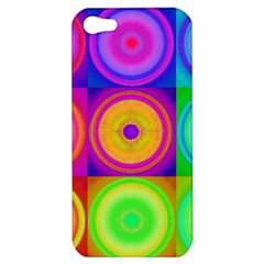 Retro Circles Apple Iphone 5 Hardshell Case by SaraThePixelPixie