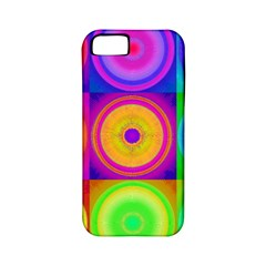 Retro Circles Apple Iphone 5 Classic Hardshell Case (pc+silicone) by SaraThePixelPixie