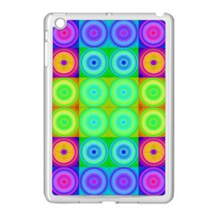 Rainbow Circles Apple Ipad Mini Case (white) by SaraThePixelPixie
