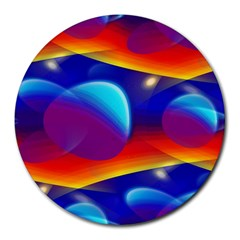 Planet Something 8  Mouse Pad (round) by SaraThePixelPixie