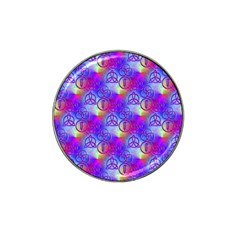 Rainbow Led Zeppelin Symbols Golf Ball Marker (for Hat Clip) by SaraThePixelPixie