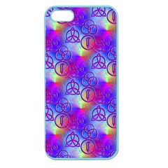 Rainbow Led Zeppelin Symbols Apple Seamless Iphone 5 Case (color)