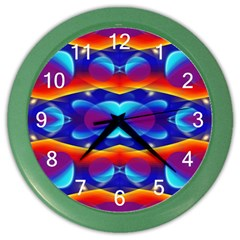 Planet Something Wall Clock (color) by SaraThePixelPixie