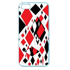 Distorted Diamonds In Black & Red Apple Seamless Iphone 5 Case (color) by StuffOrSomething
