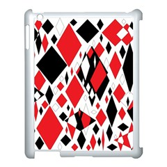 Distorted Diamonds In Black & Red Apple Ipad 3/4 Case (white)