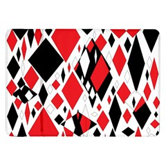 Distorted Diamonds In Black & Red Samsung Galaxy Tab 8 9  P7300 Flip Case by StuffOrSomething