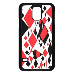 Distorted Diamonds In Black & Red Samsung Galaxy S5 Case (black) by StuffOrSomething